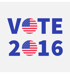 Vote 2016 text Blue badge button icon with vector image vector image