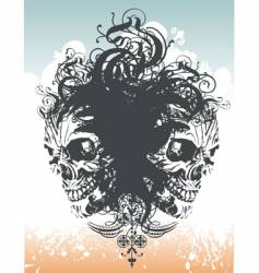 wicked skull flourish illustration vector image vector image