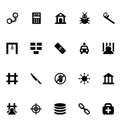 Crime icons 5 vector