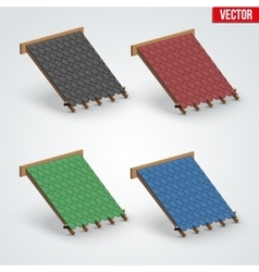 Icons Bitumen Shingles Cover on Roof vector image vector image