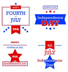 Independence Day retro cards vector image