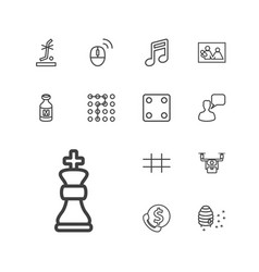 13 square icons vector
