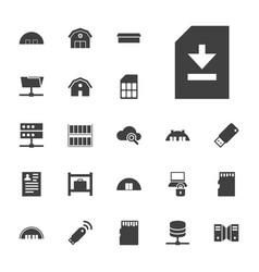 22 storage icons vector