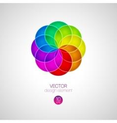3d circle design element vector