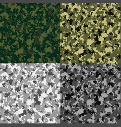 Abstract camouflage khaki seamless pattern vector