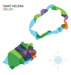 Abstract color map of Saint Helena vector image