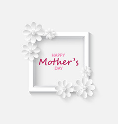 Abstract floral greeting card vector