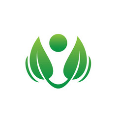 abstract leaf eco logo vector image