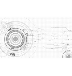 abstract technological sketch background vector image