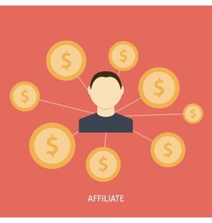 Affiliate Icon Flat vector image