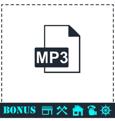 Audio file icon flat vector