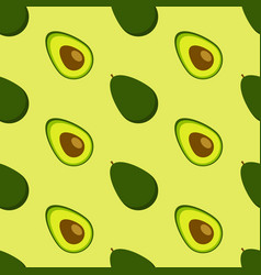 avocado seamless pattern vector image