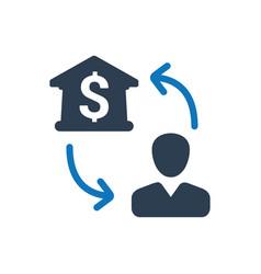 Bank transaction icon vector