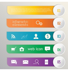 Banner ribbon Element infographic Web icons vector