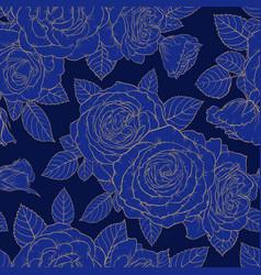 beautiful golden vintage retro seamless pattern vector image