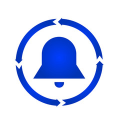 bell turn icon vector image