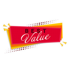 Best value banner template design vector