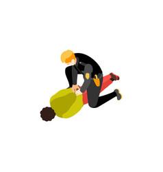 black criminal detention composition vector image