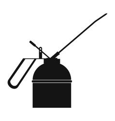 Black extinguisher icon vector image
