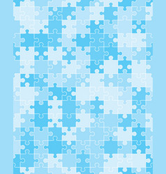 blue puzzle seamless vector image