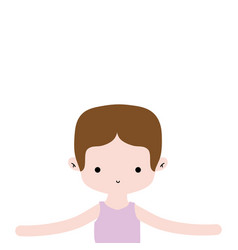 Boy dancing ballet with t-shirt and hairstyle vector