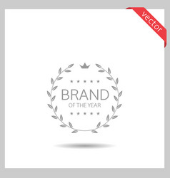 brand year icon vector image