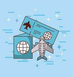 brochure travel vector image