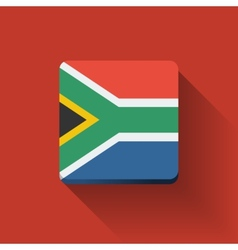 Button with flag of South Africa vector