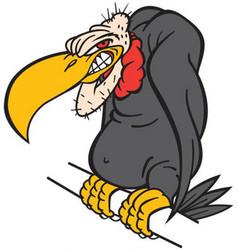 Buzzard logo mascot vector