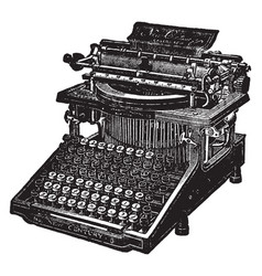Caligraph typewriter vintage vector