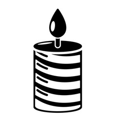 candle holiday icon simple black style vector image