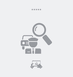 Car pooling concept icon vector