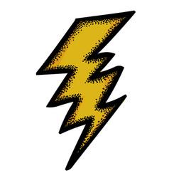Cartoon image of lightning icon bolt symbol vector