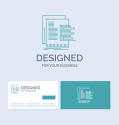 Chart data graph reports valuation business logo vector