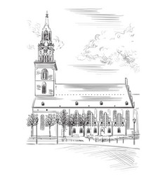 church of st mary in berlin vector image