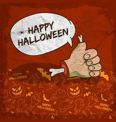 Creepy halloween poster vector