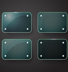 Different glass advertising board Template for a vector image