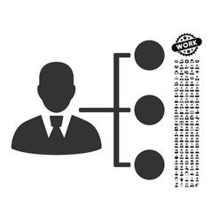 Distribution manager icon with job bonus vector