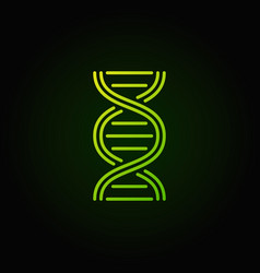 Dna structure green icon or logo vector