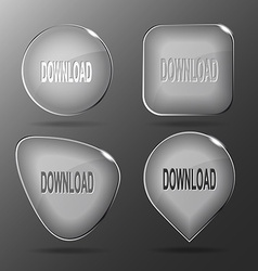 Download Glass buttons vector image