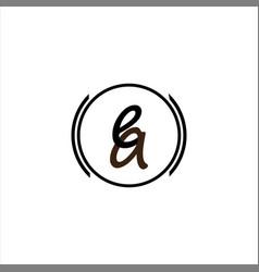 E a joint letter logo element design vector