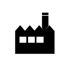 factory icon building sign vector image