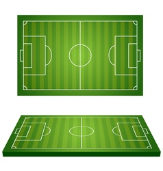 football field 3d vector image