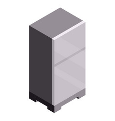 garage modern fridge icon isometric style vector image