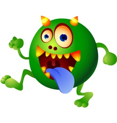 germ monster vector image
