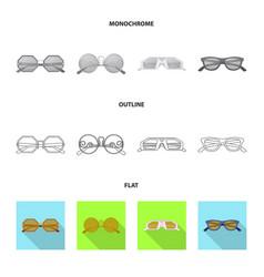 Glasses and sunglasses logo vector
