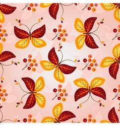 Gradient autumn seamless pattern vector