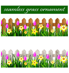 green grass seamless vector image
