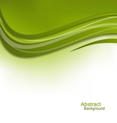 Green Wavy Background Design Template vector image