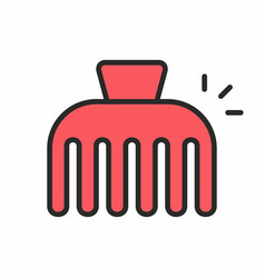 hairpin icon vector image